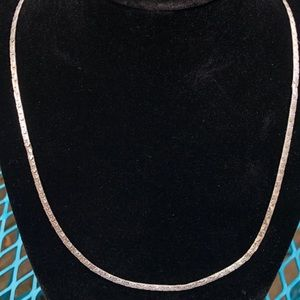 Jewelry - Sterling Silver Bismarck style flat Chain Necklace